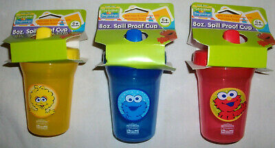 Sesame Street Beginnings SPILL PROOF SIPPY CUP  8 oz Cookie Elmo Big Bird