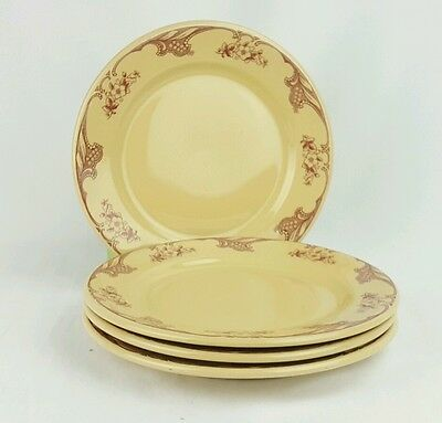"Shenango Inca Ware Rose Point Dinner Plate 9 3/4"" 1927-1948 Restaurant Set of 4"