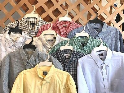 CARHARTT JOS A BANK BILL BLASS HAGGAR  LOT OF 10 MEN'S SHIRTS Sz XXL- 2XL #AW