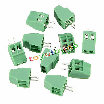 10pcs 2 Poles KF128 2.54mm PCB Universal Screw Terminal Block Connector