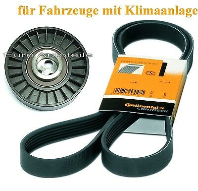 V-RIBBED BELTS+TENSION PULLEY Alfa Romeo 166 (936) 2.4 JTD with Air Conditioning