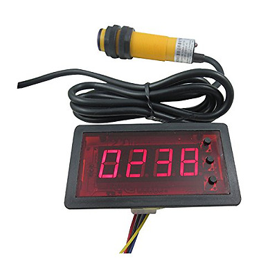 DIGITEN 12V 4 Digit Red Counter Meter+Infrared Proximity Photoelectric Switch Se