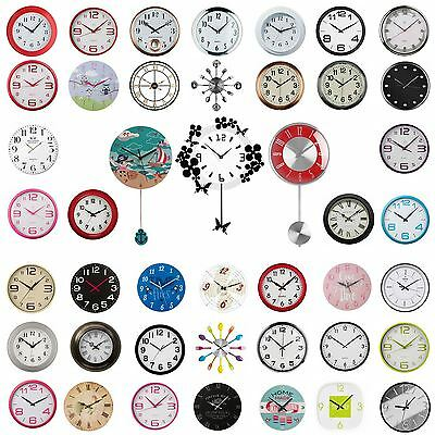 Wall Clock - Round, Square, Pendulum Clocks For Kichen, Living Room, Office