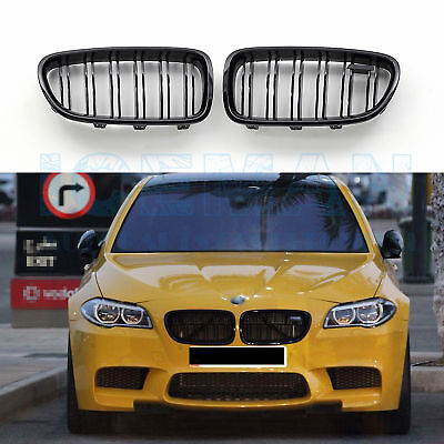 BMW 5 F10 F18 Kidney Grill Gloss Black From 2010 With m5 badge