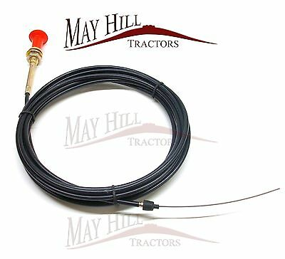 Universal Tractor Plant Digger Dumper Engine Stop Cable 5.1m Long - #9424