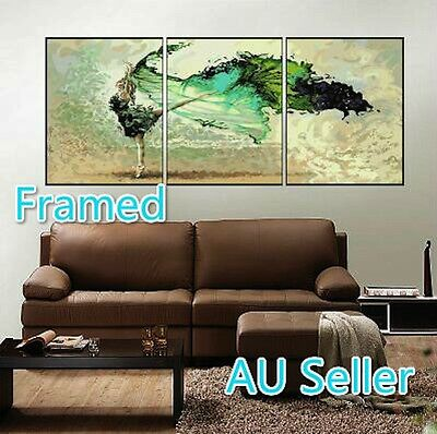 Framed Set of Three 40*50cm Paint by Number Kit Dancing Girl S5 F3P001 AU STOCK