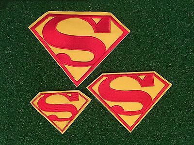 Superman....logo Iron/sew On Patch....kids...fancy Dress