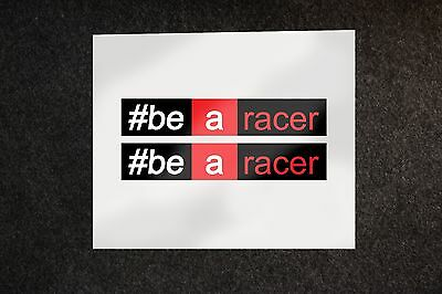2x Aprilia #be a racer stickers decals motorcycle graphics #bearacer