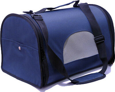 Rosewood Blue Fabric Canvas Cat Small Dog Pet Travel Carrier Travel Bag Carrier