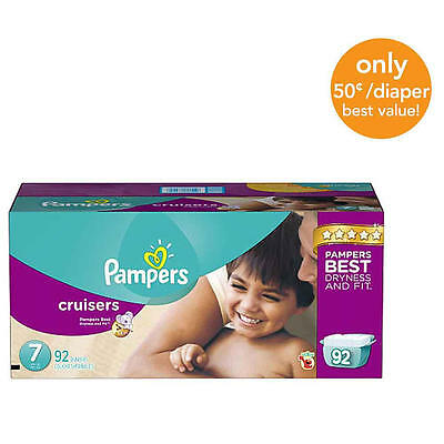 Pampers Cruisers Size 7 Diapers Economy Plus Pack - 92 Count - $0.50/Ea.