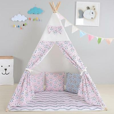 Children's Pink Teepee. Kids play tent / playhouse / wigwam Tipi Tepee. UK STOCK