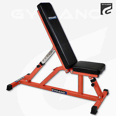 Gymano™ Club 5™ Commercial Flat & Incline Bench - Adjustable/multi/utility