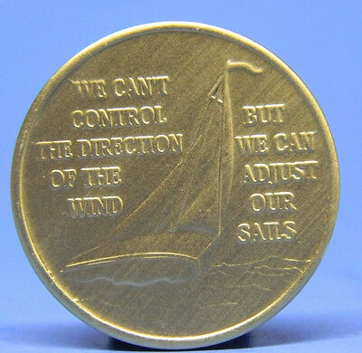 Sailboat - Bronze Recovery Chip - Medallion - Sobriety
