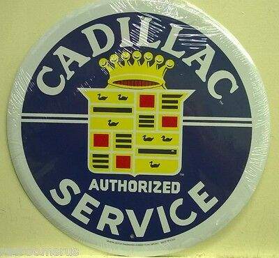 """CADILLAC authorized service 12"""" metal sign logo fleetwood deville gm RD-63"""