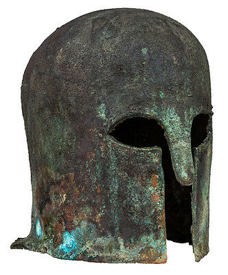 Rare Archaic Greek Corinthian Helmet ,Museum Quality Reproduction, Microcasting