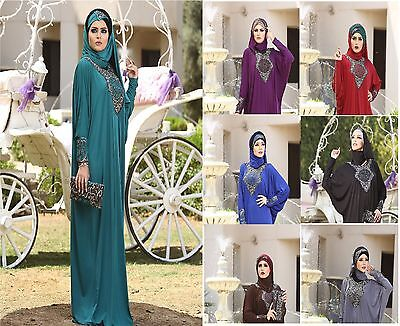 New Women Stylish Islamic embroidered Abaya Esdal Free size ( # Shrouk )