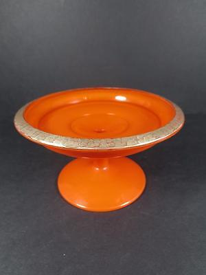 Antique Northwood Chinese Coral Compote Stemmed Bowl ca. 1924 (#35-7)
