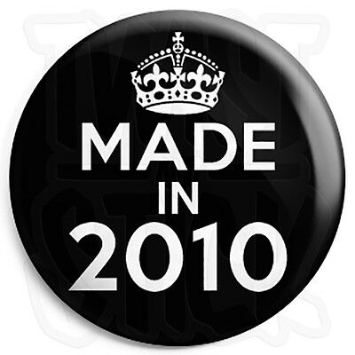 Made in 1997 25mm Button Pin Badge Keep Calm Birthday Year of Birth Black