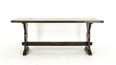 B318 Antique Scottish Solid Oak Refectory, Dining, Kitchen Table, 1920s