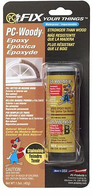 PC Products 23334 PC-Woody Two-Part Wood Repair Epoxy Paste, 1.5 oz in Two Jars,