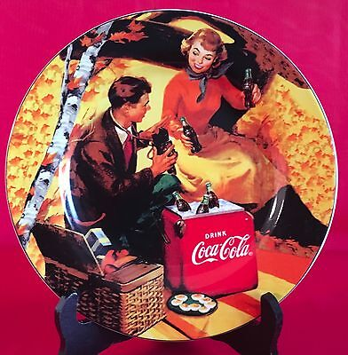 "Sakura Coca-Cola Collector Plate Tailgate Collection 8 1/4"" Diameter Picnic"