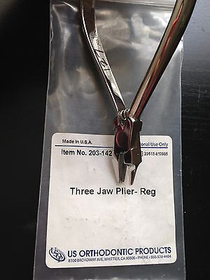 US Orthodontic Products 3 Jaw Plier-Reg (203-142)