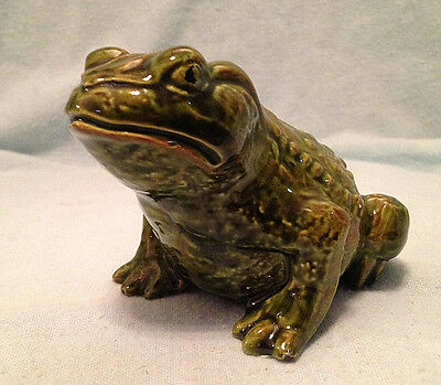 "Vintage Ceramic Toad Frog Hand Painted 4.5"" Long"