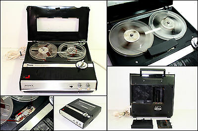 SONY TC-210 Solid State Portable Reel to Reel Tape Recorder