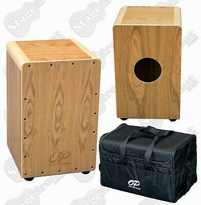 Cajon Opus Percussion Wooden Rhythm Box With Ashwood Finish. Free Gig Bag.