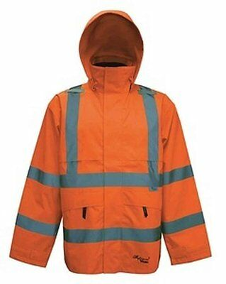 Professional Journeyman 300D Trilobal Rip Stop Safety Coat with Hood Color: