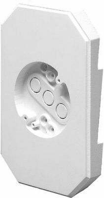 Arlington 8141DBL Siding Mounting Kits with Built-in Box, White, 1/2-, 1-Pack,