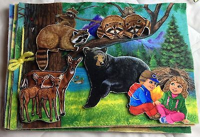 Betty Luken Quiet book  animals and children of the world felt flannel graph