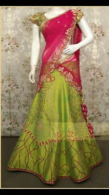 INDIAN WEDDING LEHENGA SAREE PARTY WEAR BRIDAL WOMEN ETHNIC SARI DESIGNER_vp259