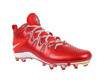 NEW Nike Huarache 4 LAX LE Lacrosse Cleats Red White 624978-601 Men's sz 14