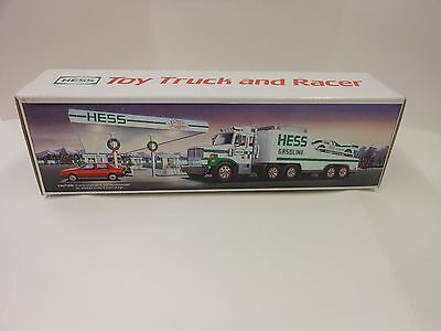 Hess 1988 Car Carrier Truck with Race Car Toy Trucks  NEW in Box