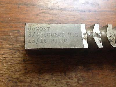 3/4 INCH Dumont HIGH SPEED STEEL SQUARE PUSH BROACH