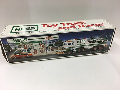 Hess 1991 Car Carrier Truck with Race Car Toy Trucks  NEW in Box