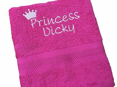 Personalised Princess Towel, choice of colours
