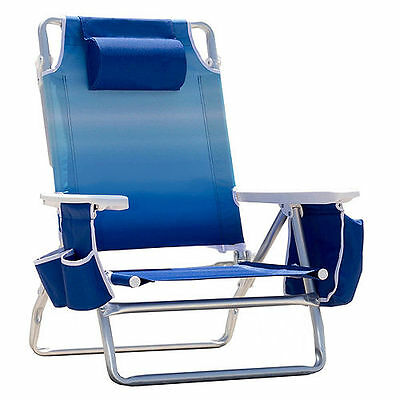 Nautica Beach Chair w/Zip-Top Cooler & Cup Holders ~ Choice of Colors ~ New!