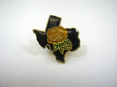 Vintage Collectible Pin: Texas Yellow Rose State Design