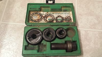 """Greenlee Knockout Punch kit not complete 7235BB 1 1/4""""- 3/4"""" tools with case"""