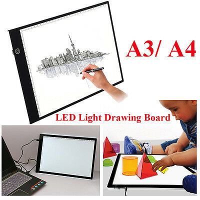 Dimmable A3 A4 LED Tracing Light Box for Artists Drawing Sketching Animation UK