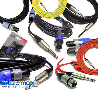 Speakon Speaker Cable Audio Lead 1M/2M/3M/6M/10M/15M/20M Pro Neutrik® Amp Leads