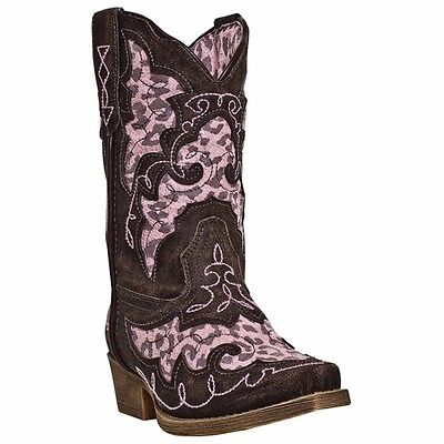 New Laredo LC2231 Kid's Animal Print Sabre Western Boots