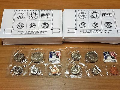 1983 Us Mint  Uncirculated  Souvenir  P & D Set