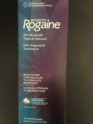 Rogaine Foam Women 2 Month Supply Hair Regrowth Treatment Exp 2019