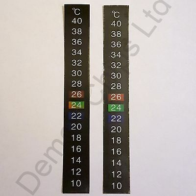 2 x 10-40C Centigrade LCD Thermometer Adhesive Strip Sticker Home Brew Wine Beer