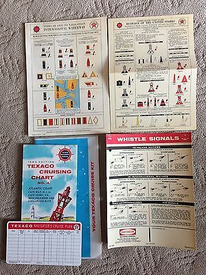 1965 Texaco Waterways Service Cruising Chart Buoyage Lot