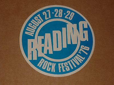 Reading Rock Festival 1976 unused Promo Sticker(Rory Gallagher/Gong/Camel/AC/DC)