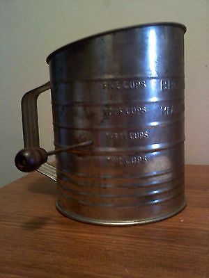 Vintage Bromwell's Double Measuring-Sifter 5 cup